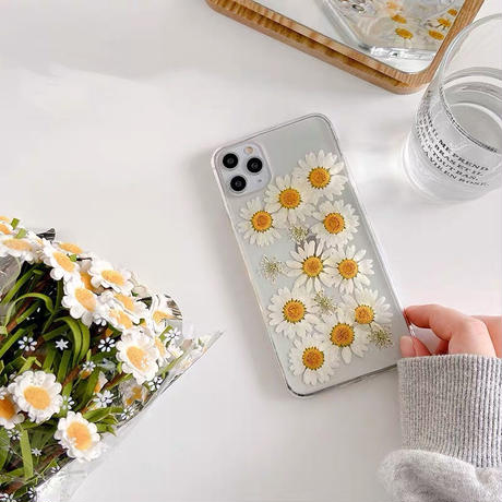 White daisy clear iphone case