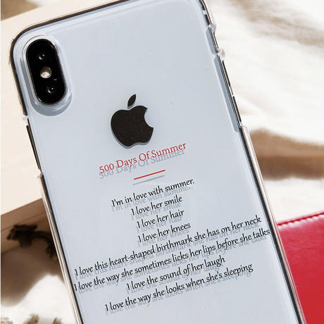 500days of summer clear iphone case [F]