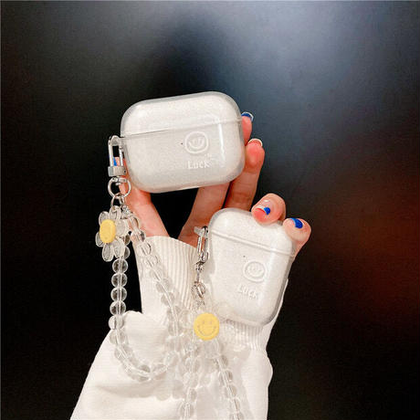 Smile flower strap airpods case