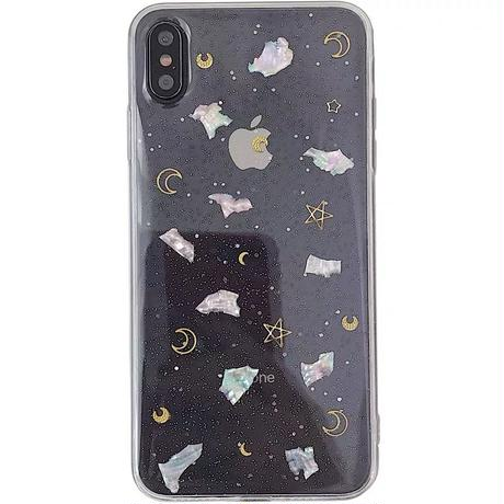 Clear shell glitter iphone case