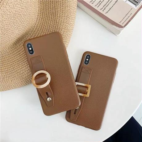 Brown strap iphone case