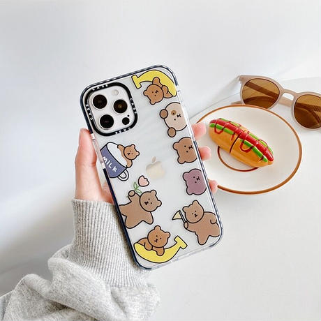 Big animal line clear iphone case