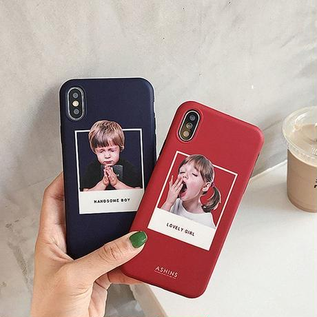 Boy and girl iphone case