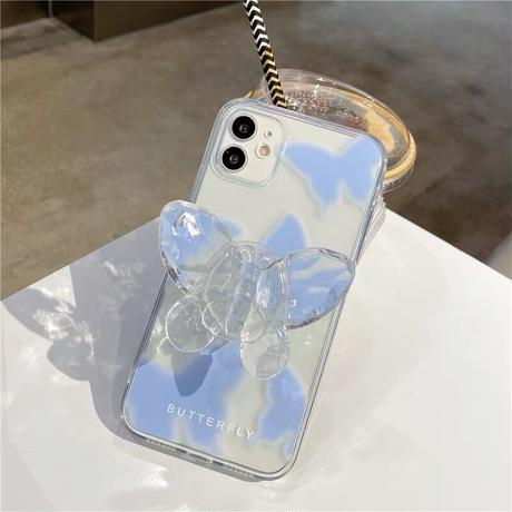 Butterfly clear grip iphone case