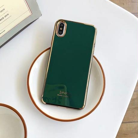 ⚠発送遅延⚠Bluegrey green metal side iphone case