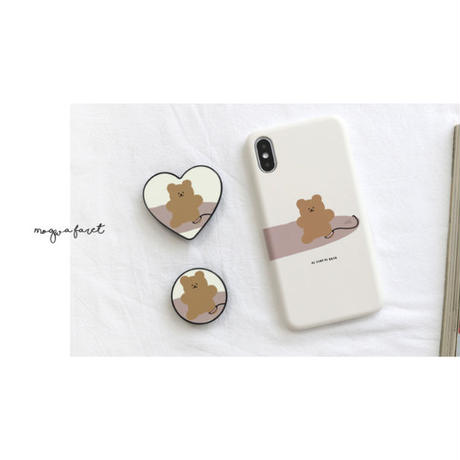 Surfing bear grip for phone