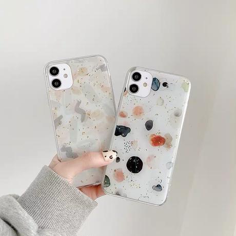 Modern black grey glitter iphone case