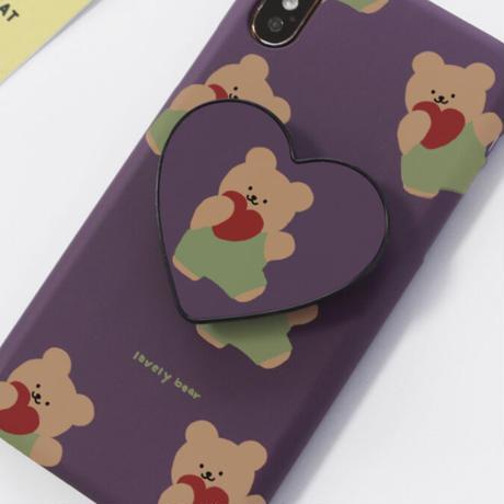 Lovely bear hard/clear case (Purpleblue) 580