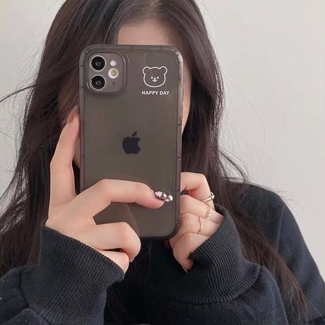 Happy day simple bear iphone case