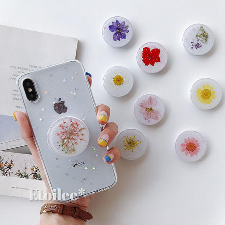 Flower pop-up grip for phone