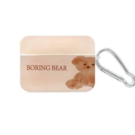 Boring bear airpods case