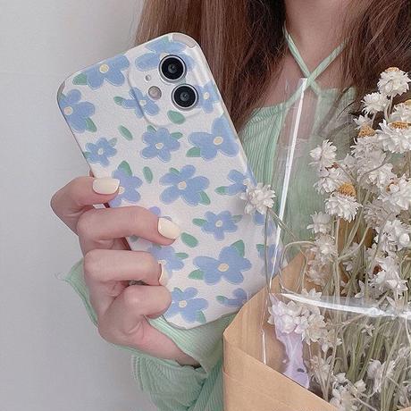 Spring blue flower iphone case