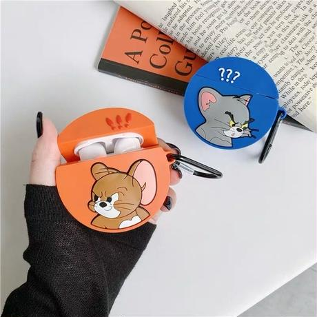 Mouse cat round  airpods case