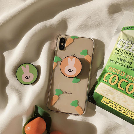 Rabbit orange green grip for phone