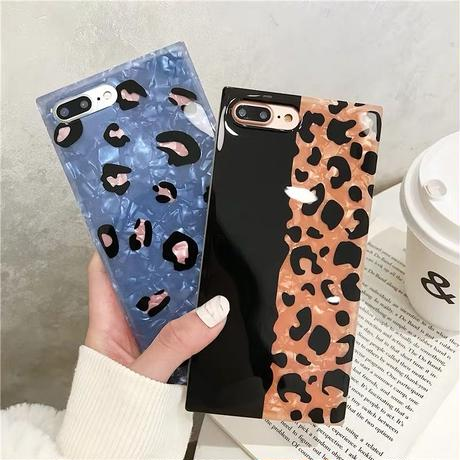 Leopard square iphone case
