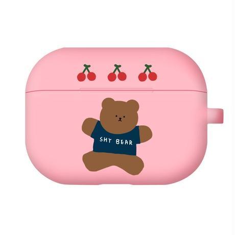 Jumping cherry bear airpods case(Blue) 215