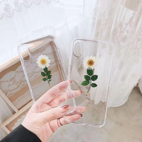 White flower iphone case