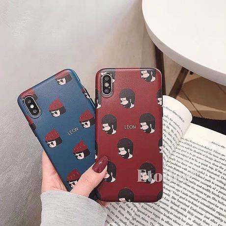Leon Matilda red blue iphone case