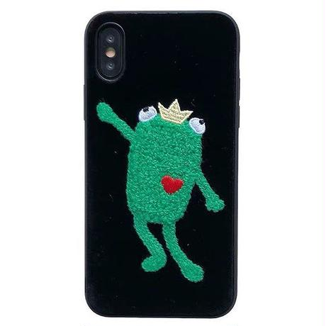Frog black iphone case