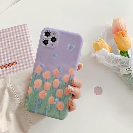 Light purple tulip iphone case