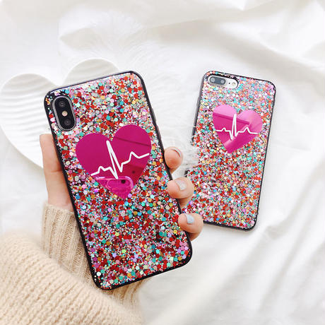 Heart beat iphone case