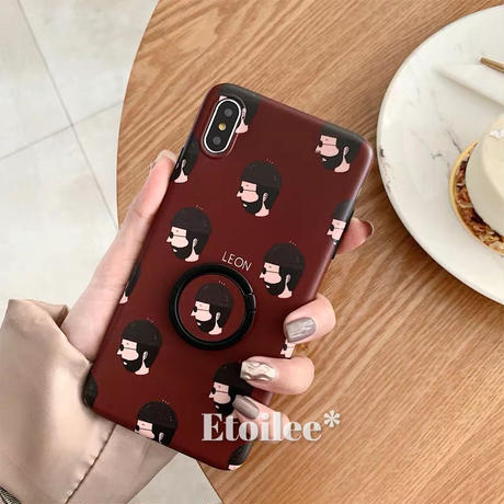 Leon Matilda with stand iphone case