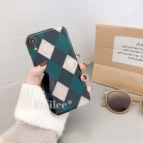 Winter check iphone case
