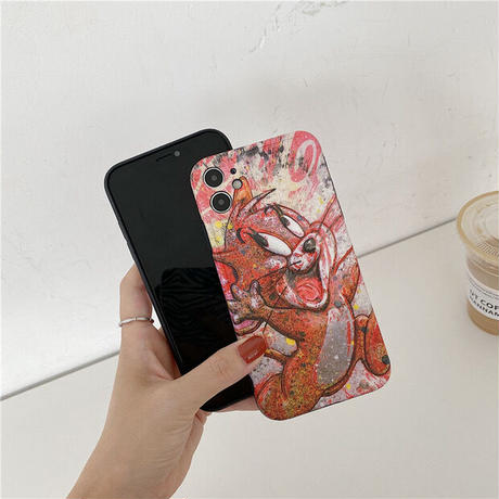 Mouse cat sketch iphone case