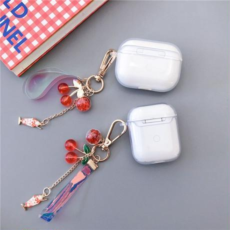 Cherry keyring airpods case
