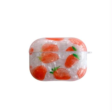 Strawberry shell airpods case