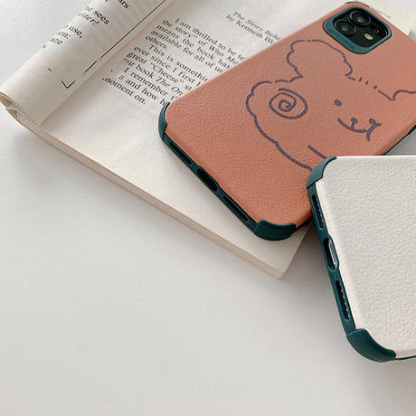 Bear white brown iphone case
