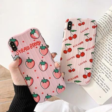 Pink strawberry cherry  iphone case