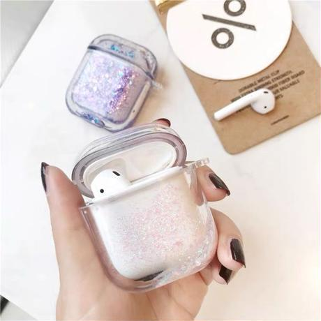 Color quicksand airpods case