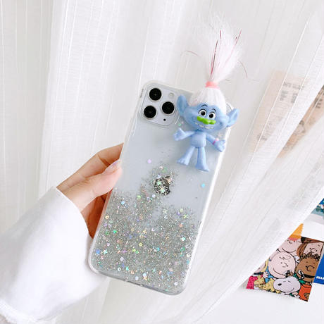 Troll color glitter iphone case