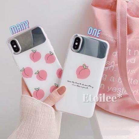 Peach mirror iphone case