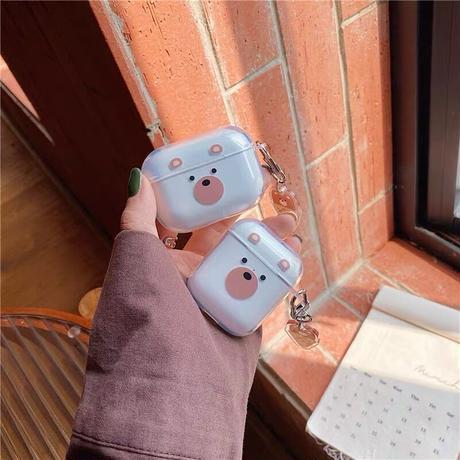 Icecream bear clear airpods case