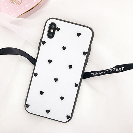 Small heart black side iphone case