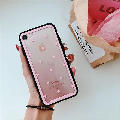 Heart glass iphone case