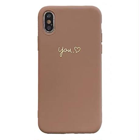 You me brown grey iphone case