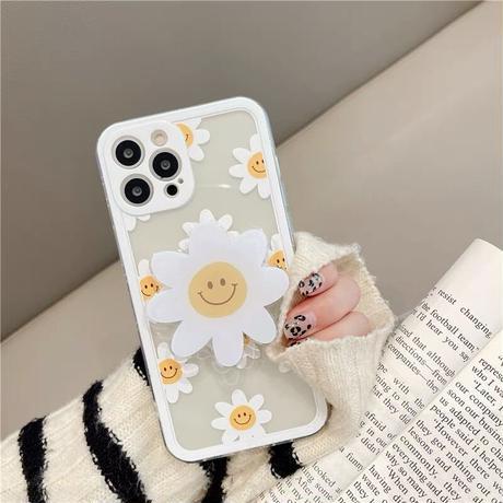 Big daisy smile grip iphone case