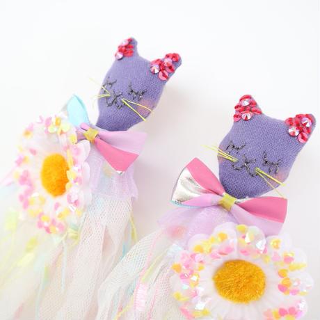 Cat/Heart Sequins Earrings