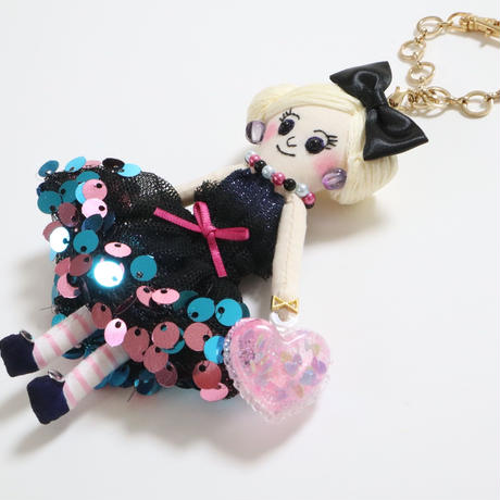 Sequins Dress Doll Charm