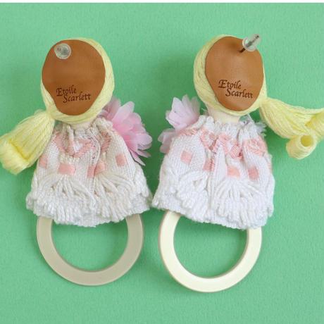 Pink ring Earrings