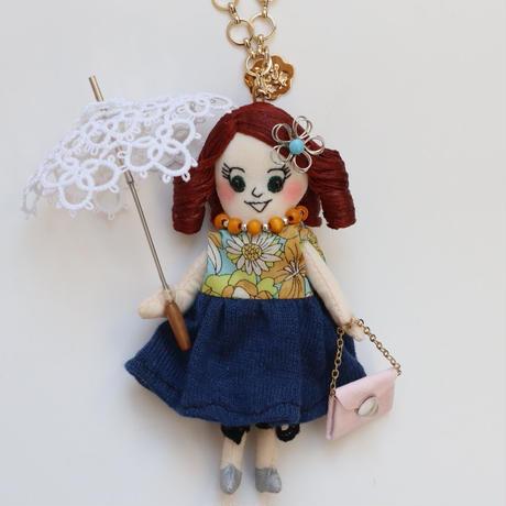 Lace Parasol Doll Charm