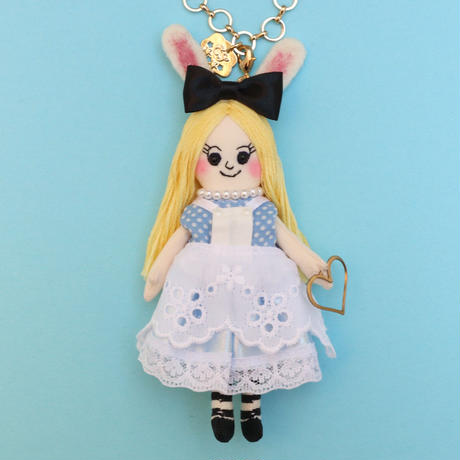 Alice Rabbit Ear Doll Charm