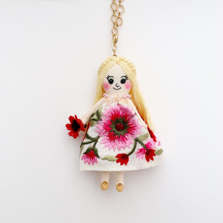 Botanical Dress Doll Charm