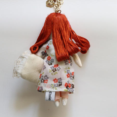 Sleeping Girl/Flowers Doll Charm