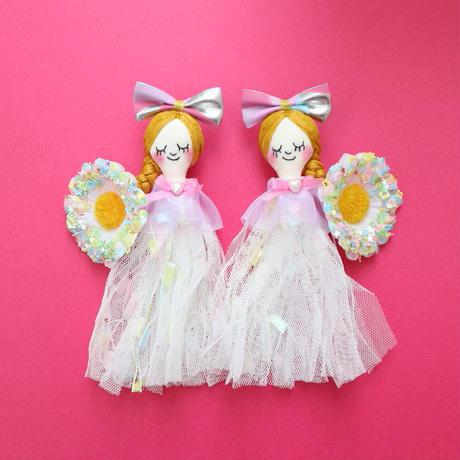 White Flower/Star Sequins Earrings