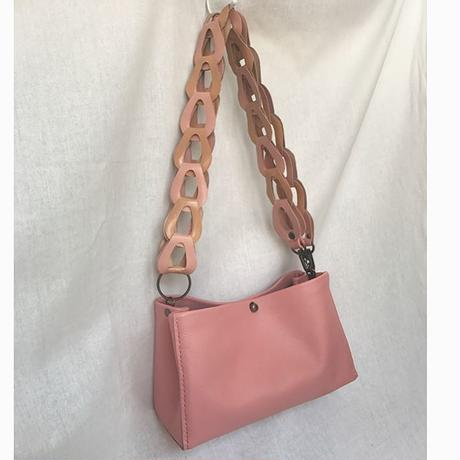 """palepink minibag with gradetion belt """