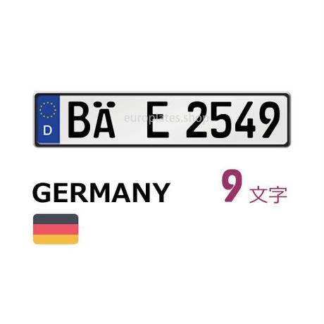 ドイツナンバー白